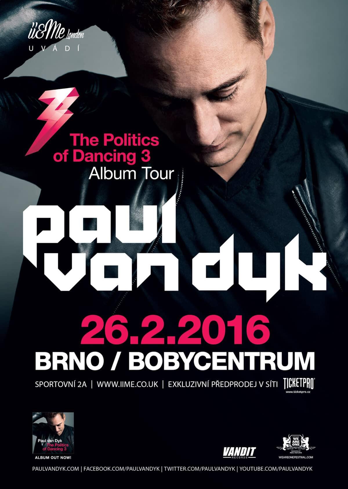 Paul van Dyk s novým albem The Politics Of Dancing 3 míří do Brna!